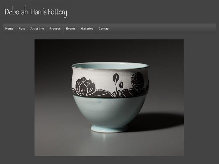 Deborah Harris Pottery website built by Julie Holmes Design