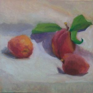 Just Peachy Oil painting by Julie Dyer Holmes