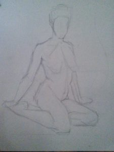 40 minute drawing using straight lines angles by Julie Dyer Holmes