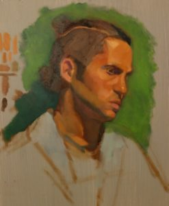 Jo, 2-day portrait in oil by Julie Dyer Holmes, Fine Artist, Philadelphia PA