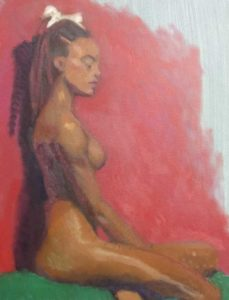 More heat less rigor 2 day pose by Fine Artist Julie Dyer Holmes